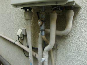 交換後の配管部分